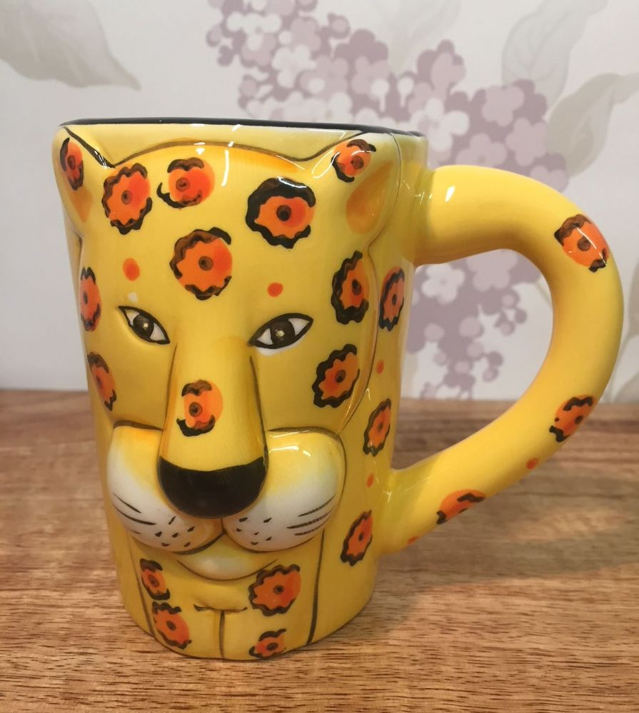 Animal Ceramic Mug Cheetah